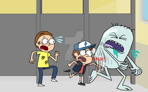 Dipper Saves Morty by spongekid1999