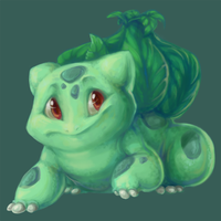 Pokemonathon: 001 Bulbasaur by monokin