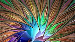 Fractal Bird of Paradise by wolfepaw
