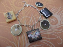 You Me At Six album charm bracelet/keychain by InsaneJellyBean95