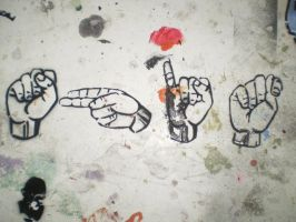sign language by MEinParadise