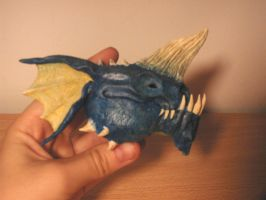 blue dragon head by maryarts