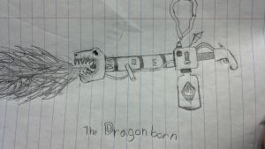 The Dragonborn flamethrower by wormyish