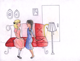 Madge and Katniss - unfinished by Mariana-S