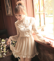 Long-Sleeve Ruffles Chiffon Dress by littlepawfashion