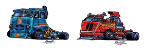 Killer Trucks Sketches by vsdesign69