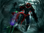 Zed with BotRK - LoL Digi-Art Throwdown Entry (IP) by LtLDigitalArt