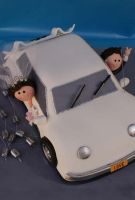 Wedding car front by Verusca