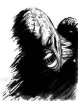 Nemesis Resident Evil paint and brush by DougSQ