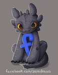 Toothless Likes me on Facebook by Hirukio