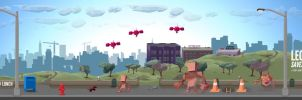 Leonard Saves the City Alamo Square Widescreen by Hoabert