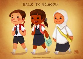 Back To School by chimpansy