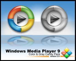 Windows Media Player 9 Candy by weboso