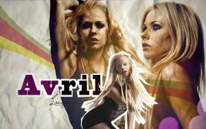 Avril Lavigne-wallpaper by Hannah-Vee