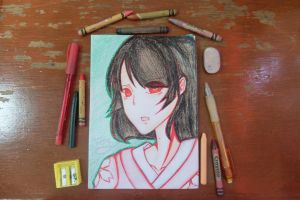 APH Female!Japan (Nyotalia)|RoseThornCams14 by rosethorncams14