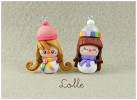 Fimo Snowman Doll by LolleBijoux