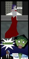 Beastboy and Raven comic by lesliemint