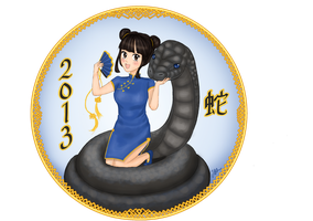 The year of the black/water snake by ByJasmine