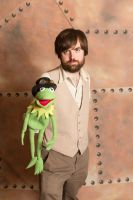 Steampunk Jim Henson and Kermit Cosplay by The-Prez