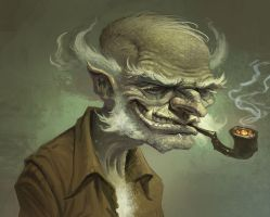 Old Man Goblin by joelhustak