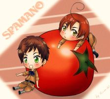 Secret Santa: Spamano by Xin-W