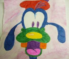Colourful Goofy drawing by chloesmith8