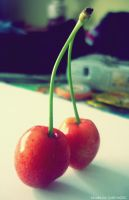 Sweet cherries by Iulia-Oprinesc