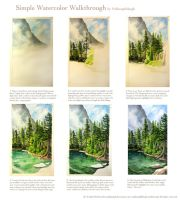 A Simple Watercolor Walkthrough: Landscape by pallanoph