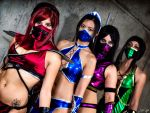 The Mortal Kombat Girls by SNTP