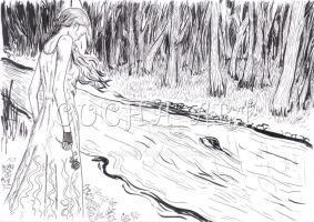 River and Forest, loneliness by LunaArte