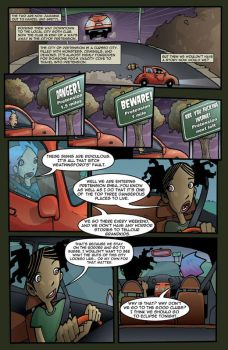 Gravity Girl Page Five by JeremyTreece