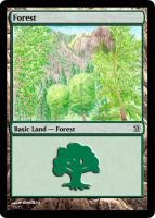 MtG: Forest by Overlord-J
