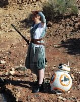 BB-8 and Rey (Star Wars: Force Awakens) by Frikivoodoo