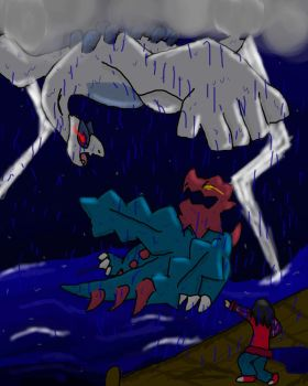Lugia Comes Forth! by SoulDahDerp