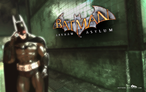 Batman: Arkham Asylum Wall02 by badtrane