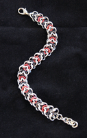 Elfweave Bracelet - Silver, Red, and Black by SerenFey