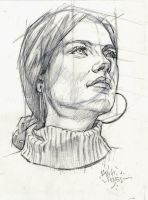 PERSPECTIVE FEMALE HEAD by AbdonJRomero