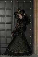 Stock - Black and gold Vampire Queen Faun Demon by S-T-A-R-gazer