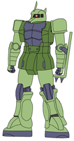MS-05B Zaku 1 Lesser Commander Type by DaiGuard78