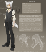 Hauen Character sheet by MonochromeAgent