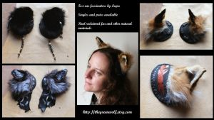 New fox ear fascinators! by lupagreenwolf