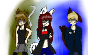 Me and two epic people by SnowWolf100
