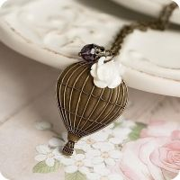 Hot Air Ballon necklace by BeautySpotCrafts