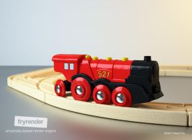 BRIO Mighty Red Locomotive by zmoodel
