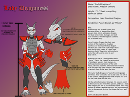 Lady Dragoness Ref Sheet by Mew-tew
