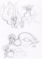 Fatty Roman sketches by Squidbiscuit