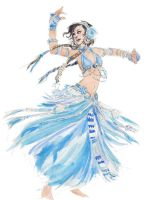 Blue Tribal Belly Dancer by JenJens-Journey