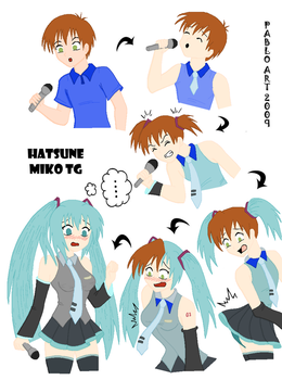 Hatsune Miku TG Colored by Firingwall