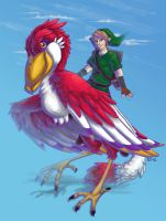 Link and the Red Loftwing by edmcd