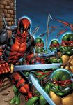 Deadpool and Ninja Turtles colors by seanforney